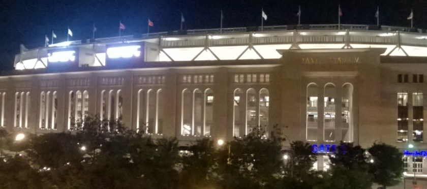 Yankee Stadium in the lights