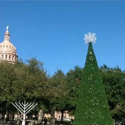 Christmas Tree at Texas Capital Building